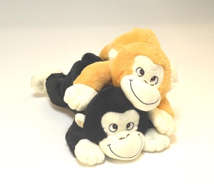 Plüsch Affe liegend 2 Farben sortiert ca 40 cm