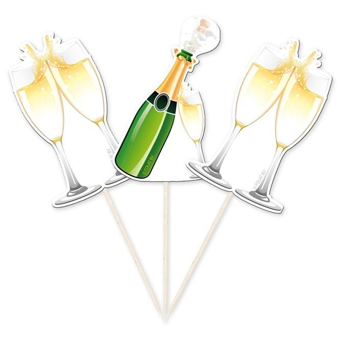 Picker Champagnerflaschen 10 Stück - ca 10cm