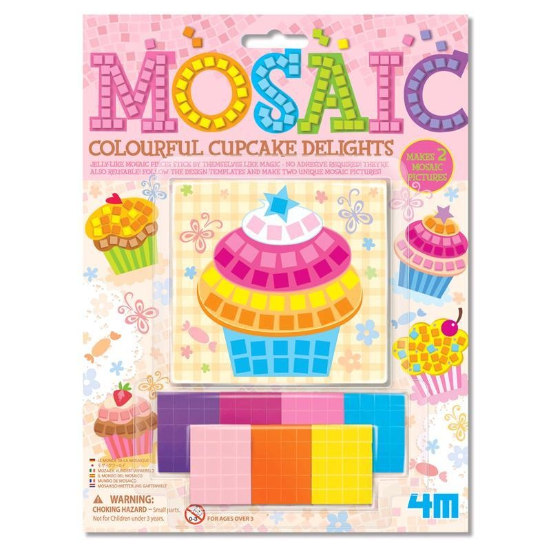 Bastelset Mosaic Colourful Cupcake auf Karte ca 25x18,5cm