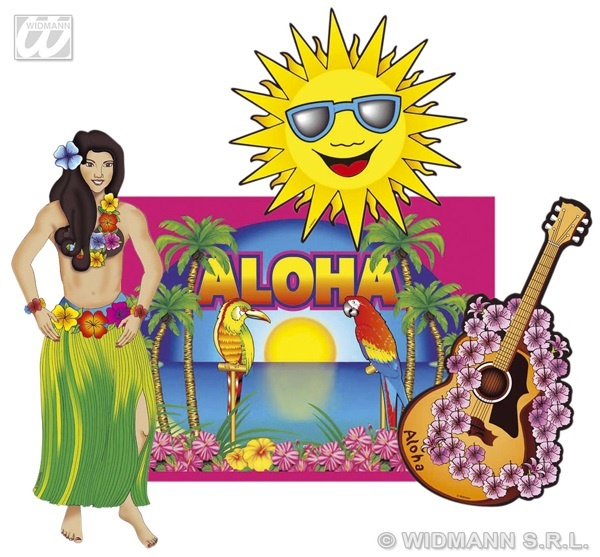 Partydekorationsset - Hawaii 4 tlg - ca 50cm