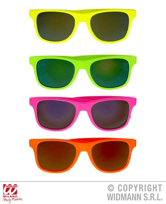 Brille der 80er JAHRE  in 4 Farben sortiert - ca 15cm breit