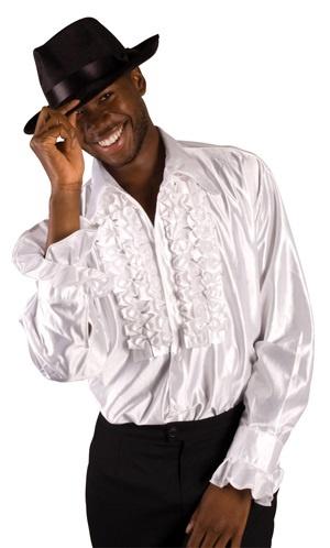 Disko-Shirt weiß Größe XL