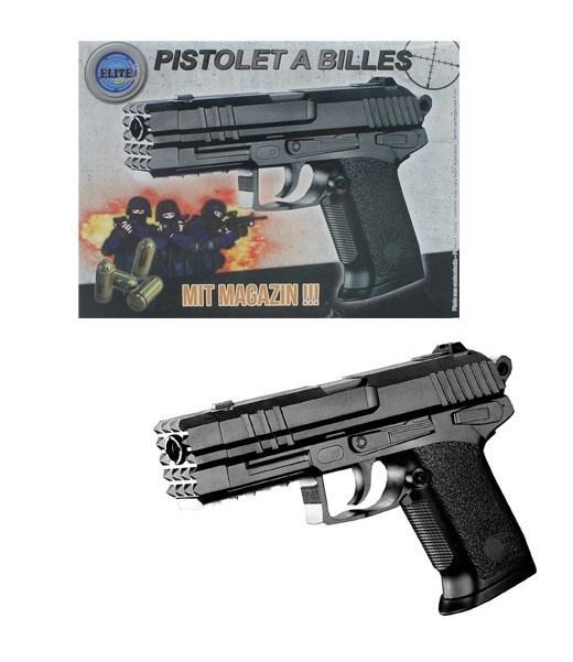 Kugelpistole mit Magazin max 0,5J - ca 19,5cm