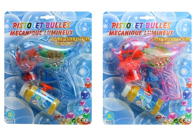 Seifenblasen Pistole Delfin mit LIcht  ca 16 cm