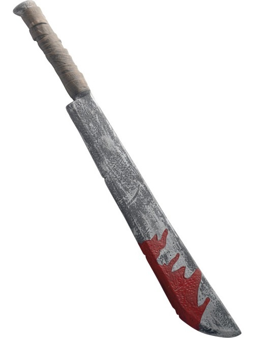 Messer Hackmesser blutverschmiert - ca73cm
