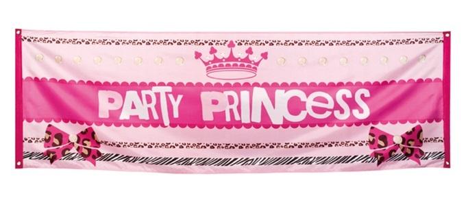 Banner Party Princess  ca  220 x 74 cm