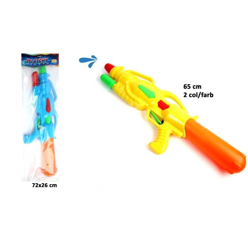 Wassergewehr Wasserkanone 2-fach sortiert ca 65 cm
