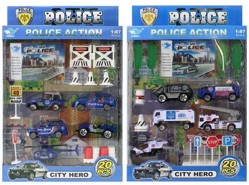 Polizeiset METALL 2-fach sortiert - 20 Teile -