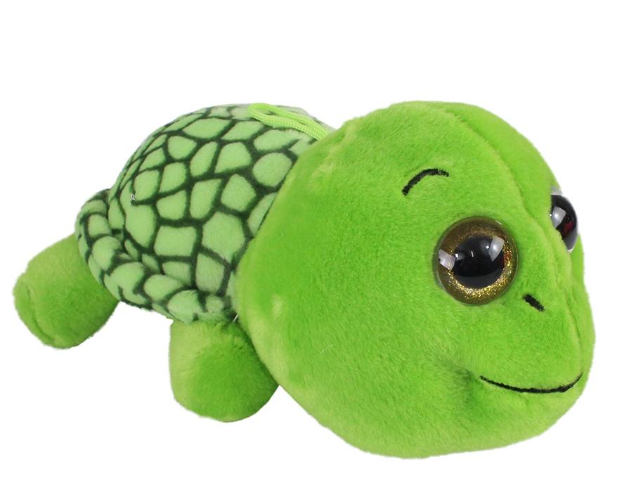 Schildkröte  mit Glitzeraugen liegend ca 25 cm