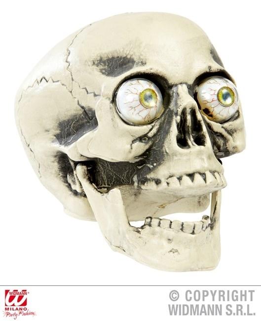 PVC Totenkopf mit realistischen Augen ca 21 cm