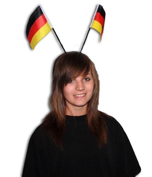 Haarreifen mit Deutschlandfähnchen