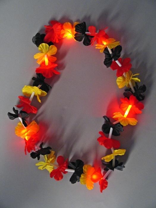 Blütenkette Deutschlandfarben, Leuchtfunktion