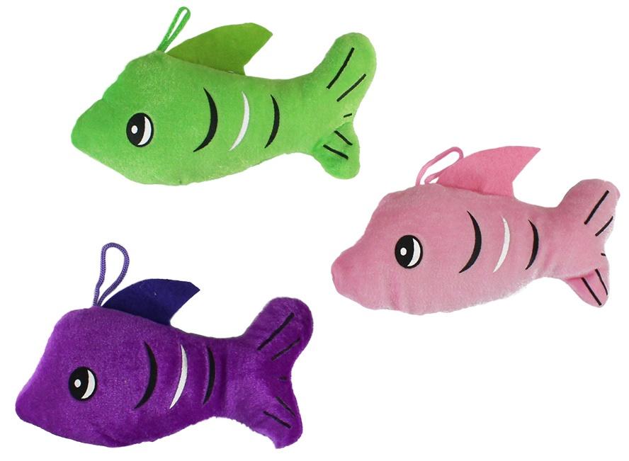 Fisch 3-farbig sortiert ca 17 cm