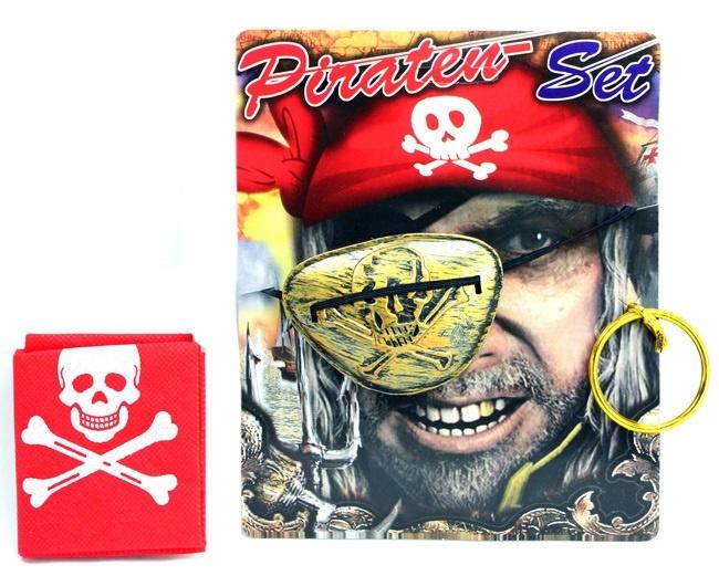 Piratenset 3 teilig im Beutel ca 20x18cm