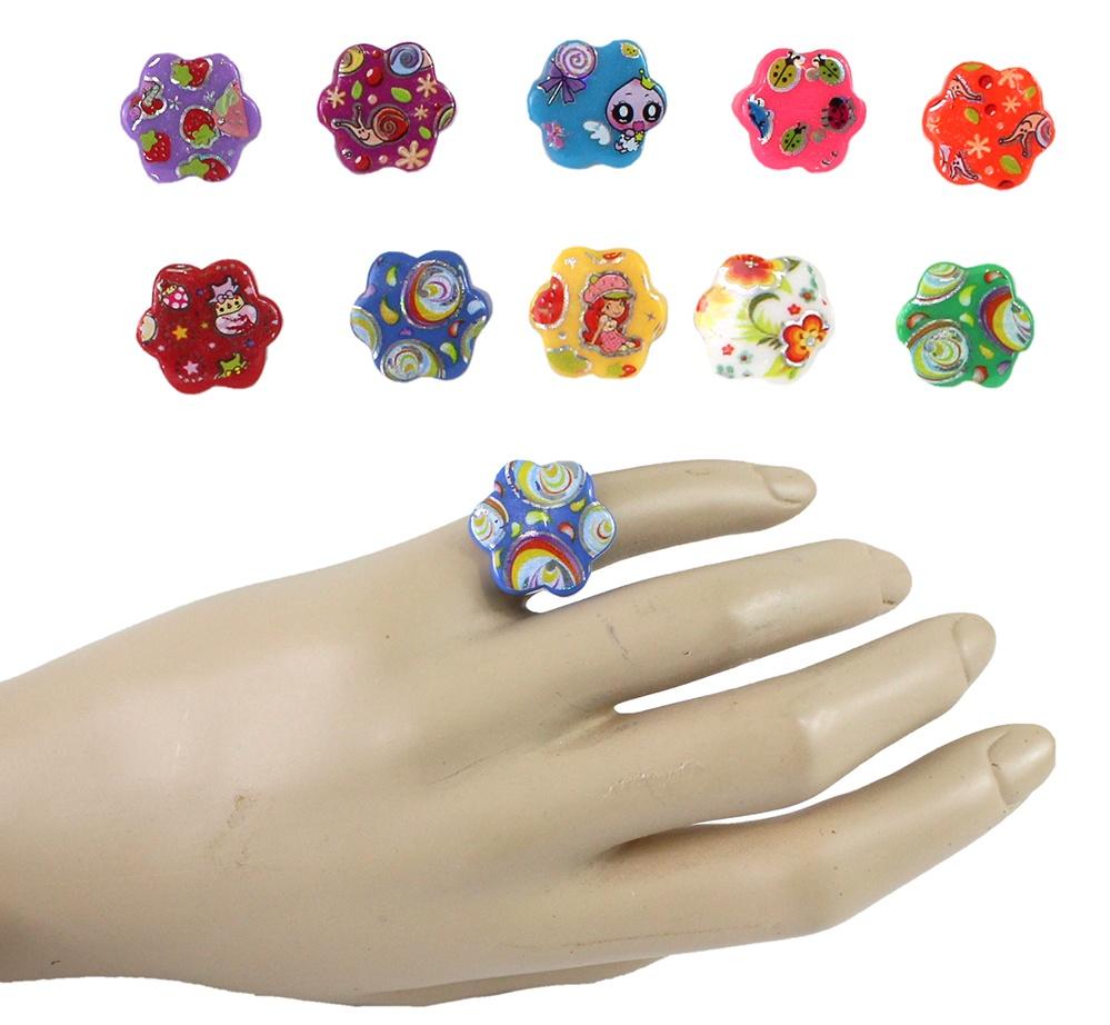 Fingerring Kinderring mit verschiedenen Motiven und Größen
