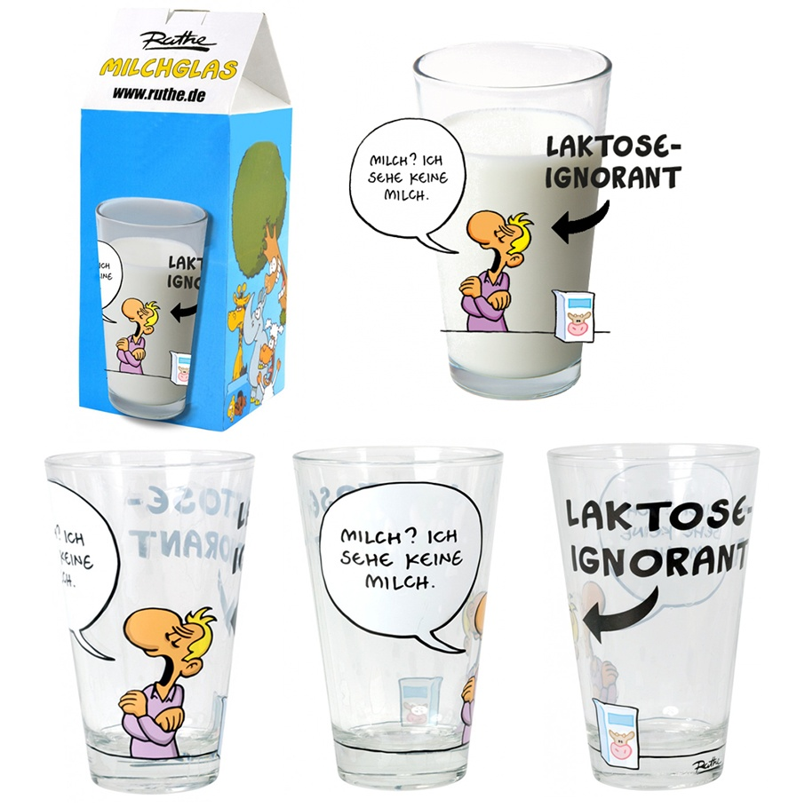 Ralph Ruthe Milchglas, Laktose-Ignorant Glas 260 ml