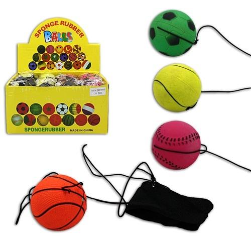 Ball Returnball 4-fach farblich sortiert - ca 6cm