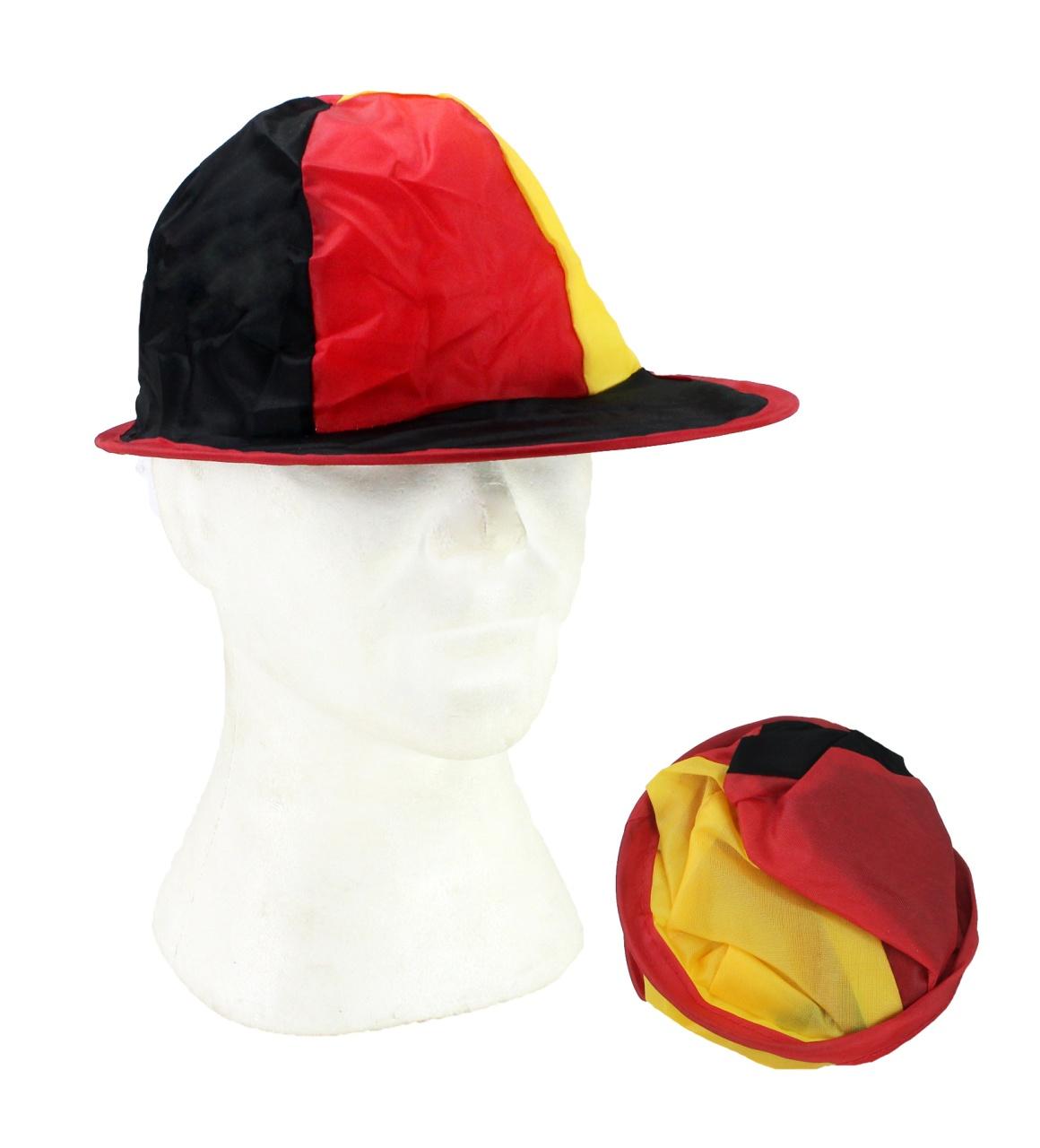 Deutschland Kappe Mütze schwarz-rot-gold zusammenfaltbar