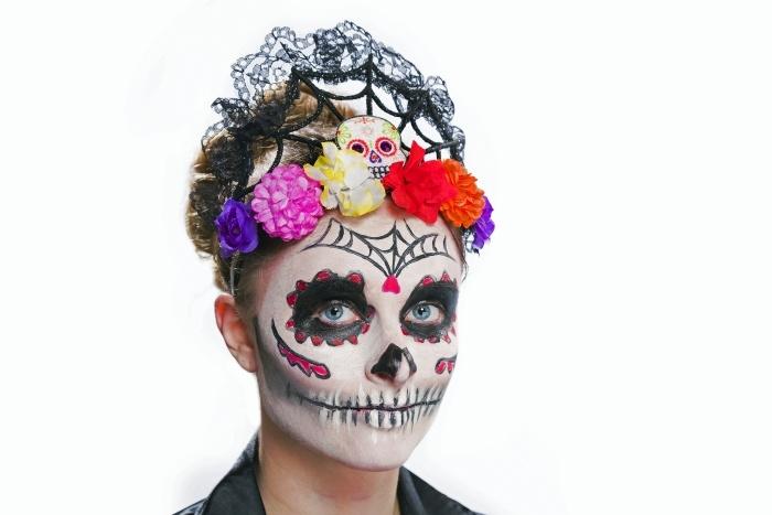 Kopfbügel Tag der Toten, schwarz