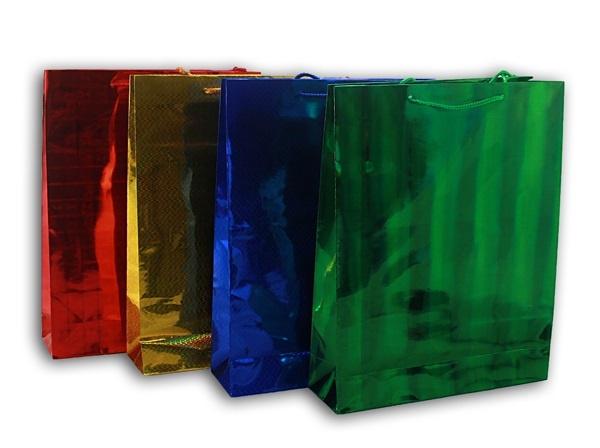 Glitzertasche Geschenktasche 4-fach - ca 26,5 x34 cm