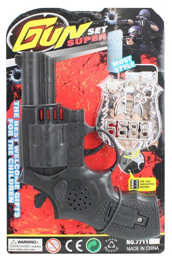 Ratter Revolver auf Karte ca 20x12,5cm