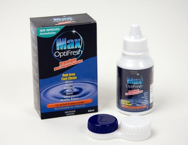 Pflegemittelset für Kontaktlinsen