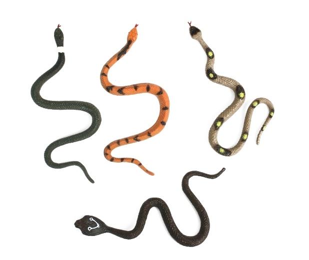 Schlangen-Gummischlangen 4-fach - ca 17 cm