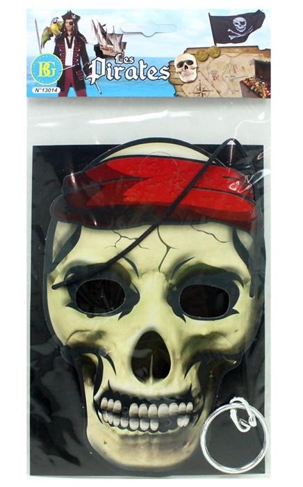 Piraten Maske und Ohrring im Beutel ca 30x16cm