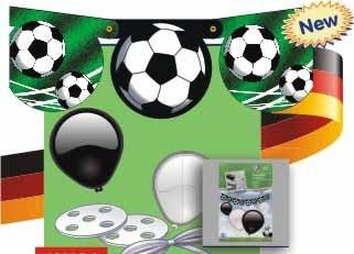 Ballons- Dekoballongirlande Fußball