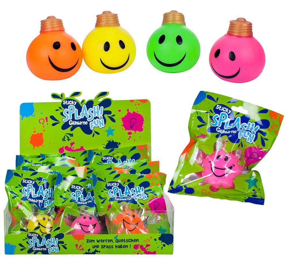Sticky Splash Fun Glühbirne 4-fach sortiert