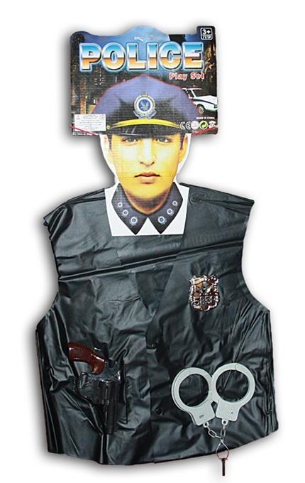 Kostüm - Polizist Einheitsgröße für Kinder