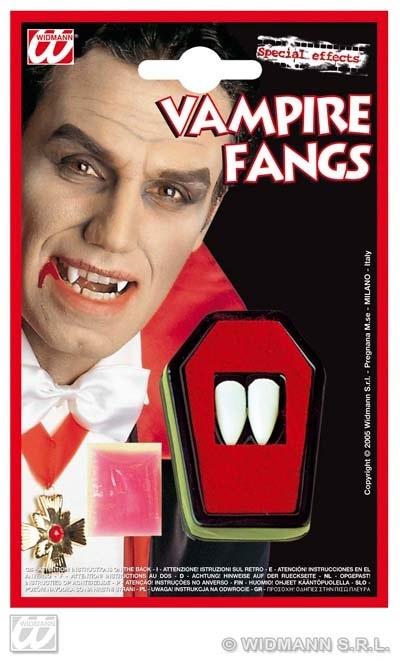 Zähne - Vampirzähne auf Karte ca 12x19 cm