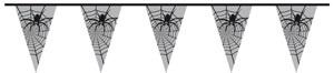 Wimpelkette ,Spinne, ca 6 meter