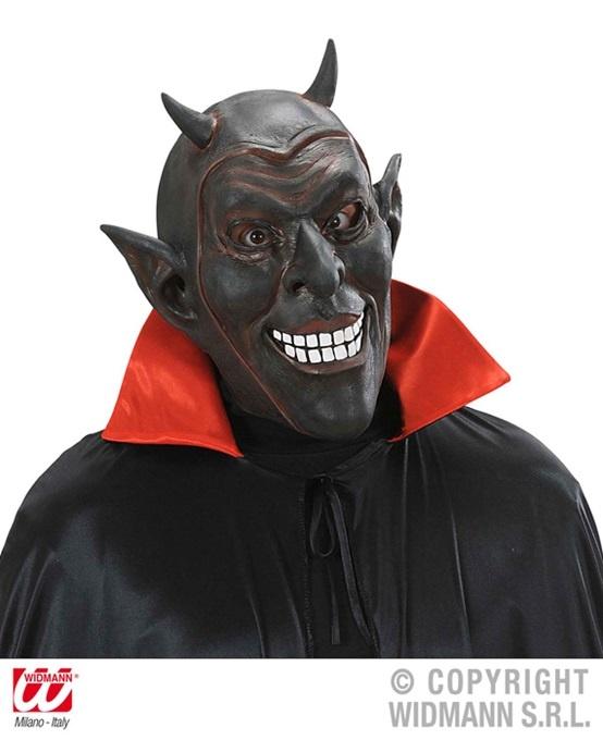 Maske - schwarzer lachender Teufel-