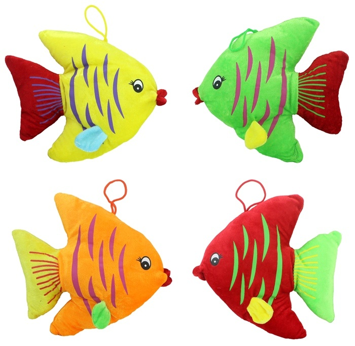 Fisch liegend 4-fach sortiert - ca 24x23cm