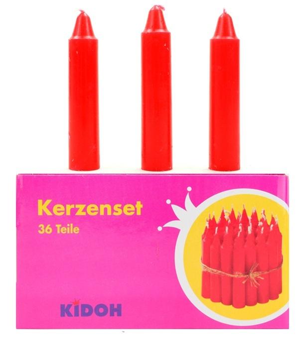 Kerzen  rot ca 60 x 13 mm