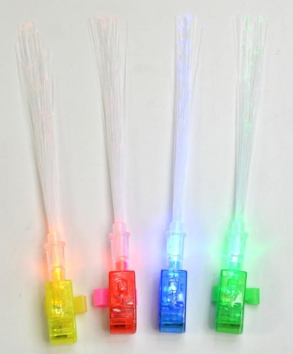Fingerlicht mit Fiberglasstäben 3-fach sortiert ca 18cm