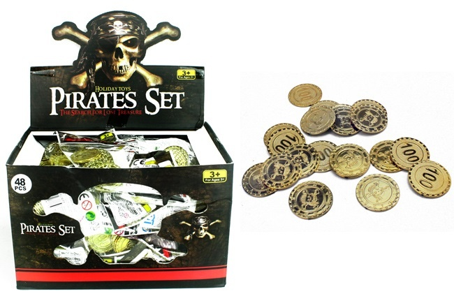 Piratenmünzen gold 20 Stück - ca 30 mm