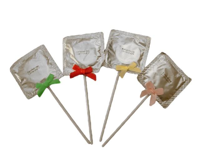 Kondomlutscher mit  Schleifchen ca 15 cm