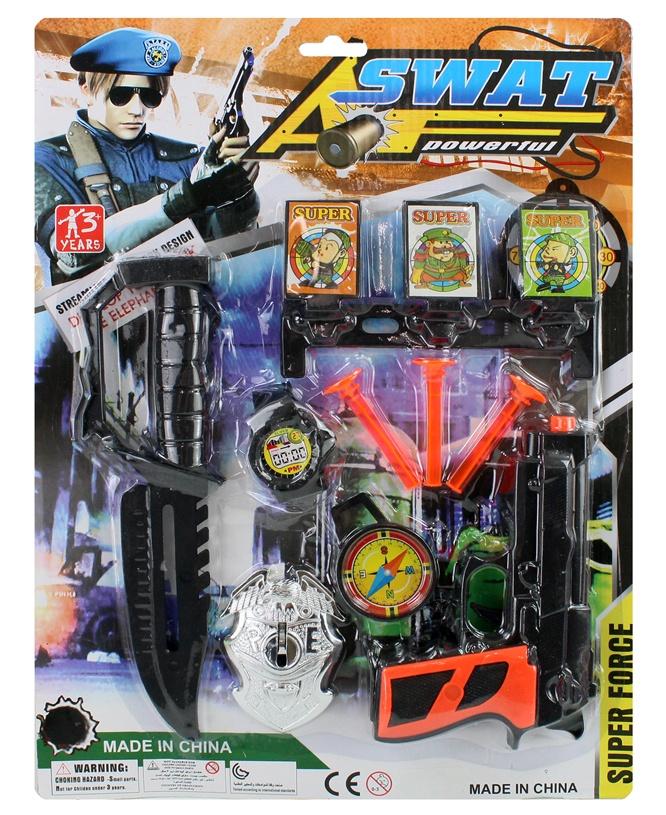 Polizeikarte SWAT 9 teilig ca 38,5x28,5cm