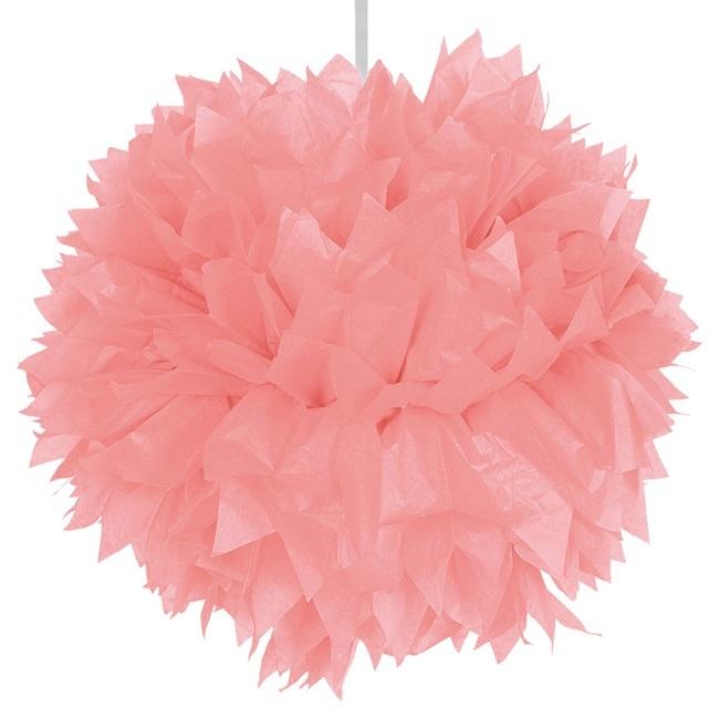 Pompom rosa ca 30 cm