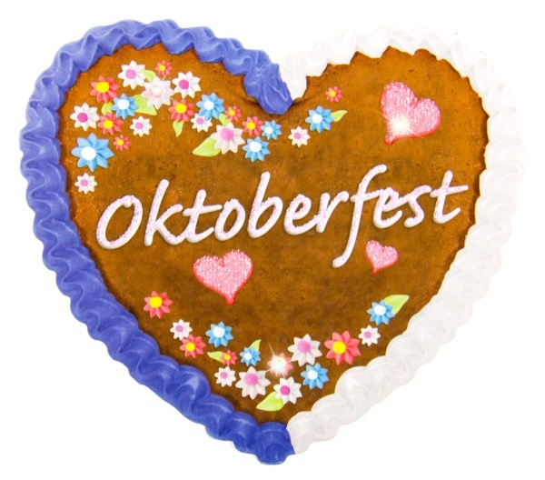 LED Button Oktoberfest Lebkuchendesign