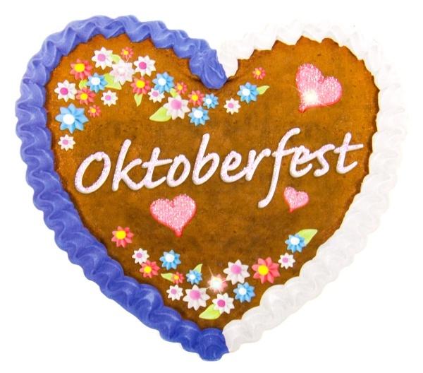 LED Button Oktoberfest Lebkuchendesign