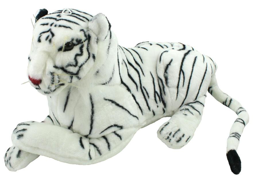 Tiger liegend weiß  ca 60 cm