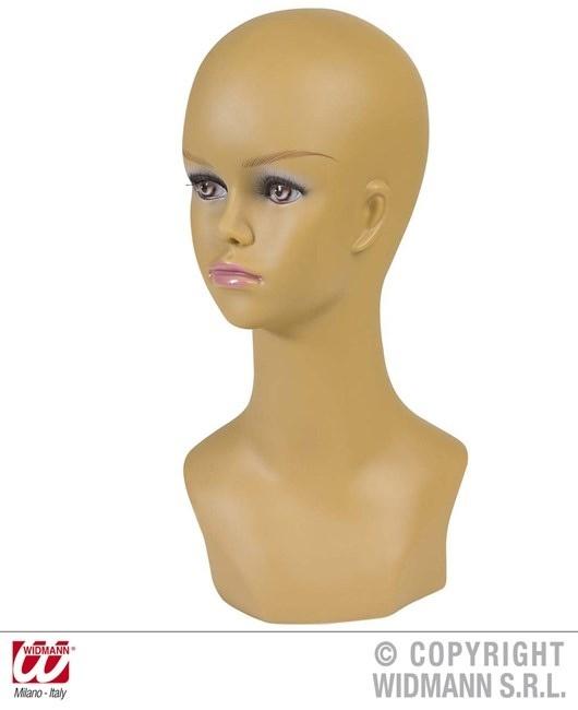 Perückenkopf Mulatta Frau ca 40 cm