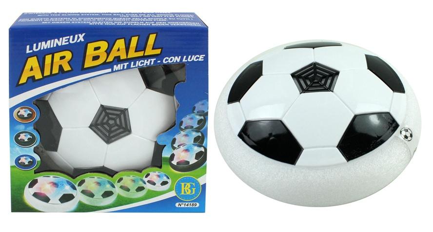 Fußball mit Licht und Gleitfunktion Luftkissen - ca 18 cm