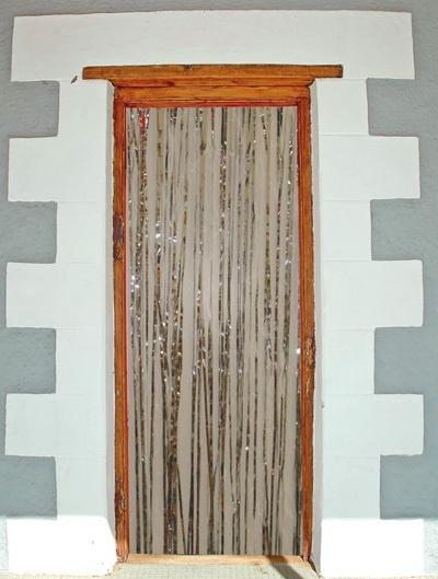 Türvorhang - Folie silber ca 2x1m