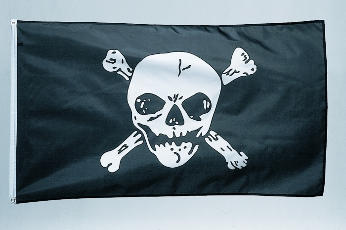 Piraten-Fahne Jolly Roger, ca. 90 x 150 cm