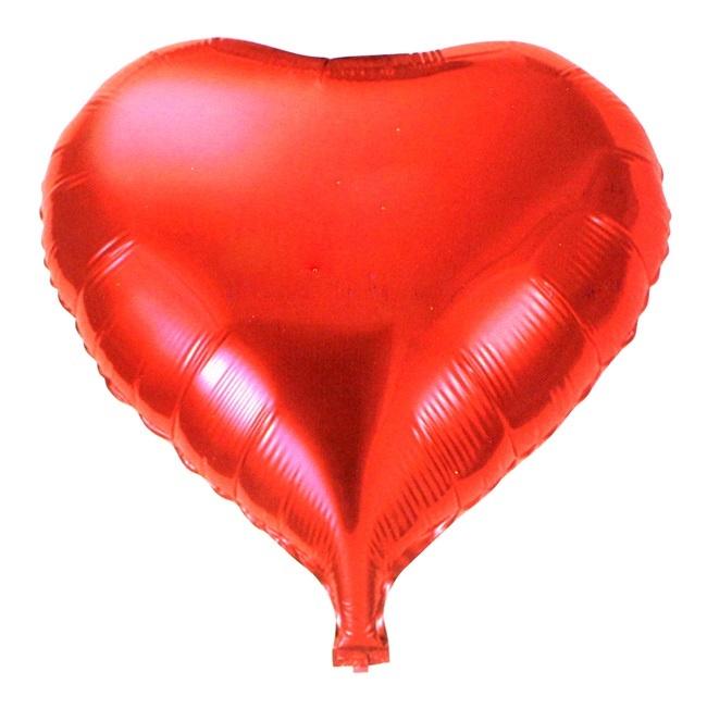 Luftballon Folienballon Herz rot ca 45 cm