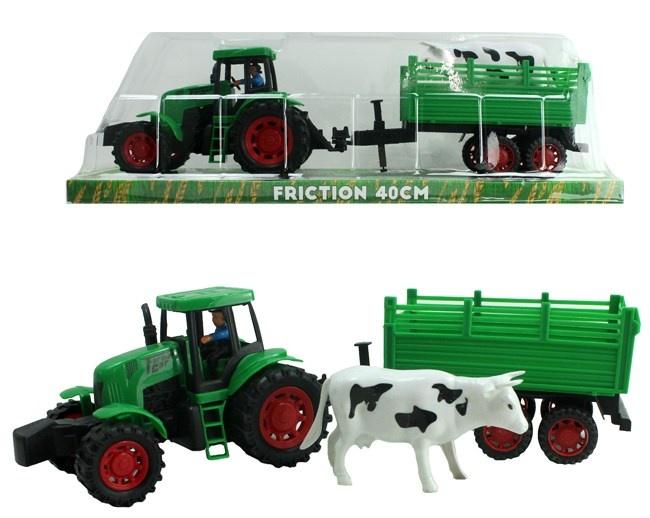 Traktor mit Anhänger gesamt ca 40cm